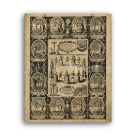 Printable Dance with the Dead memento mori art by Gerhart Altzenbach - vintage print poster