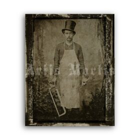 Printable Bill the Butcher antique photo - New York gangster William Poole - vintage print poster