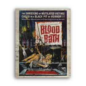 Printable Blood Bath vintage 1966 horror grindhouse b-movie poster - vintage print poster