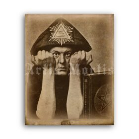 Printable Aleister Crowley occultist magick antique photo - vintage print poster