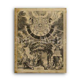 Printable Carl Gustav Jung photo portrait - psychology poster - vintage print poster