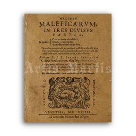 Printable Hammer of Witches, Malleus Maleficarum, Hexenhammer 1574 - vintage print poster