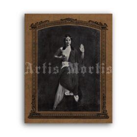 Printable Priestess of the Great Mother, occult girl, pagan goddess photo - vintage print poster