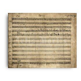 Printable Wolfgang Amadeus Mozart Requiem original handwritten score - vintage print poster
