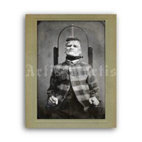 Printable Psychiatric electroshock therapy, mental hospital photo poster - vintage print poster