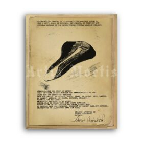 Printable UFO Aerodyne drawing - 1947 Majestic-12 secret report poster - vintage print poster