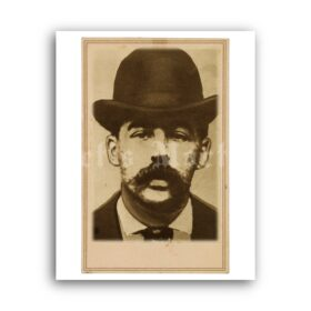Printable H. H. Holmes - first American serial killer mugshot photo poster - vintage print poster