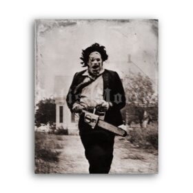 Printable Leatherface - The Texas Chainsaw Massacre 1974  photo poster - vintage print poster