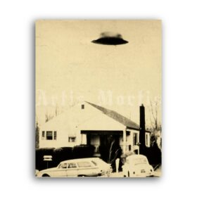 Printable Zanesville Flying Saucer UFO photo, Blue Book Project poster - vintage print poster