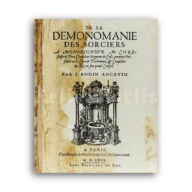 Printable Demonomanie of Jean Bodin title page, medieval inquisition print - vintage print poster