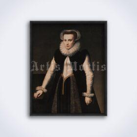 Printable Elizabeth Bathory portrait - Bloody Countess, medieval killer - vintage print poster