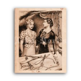 Printable Whips, mistress BDSM accessories - vintage fetish art by Herric - vintage print poster
