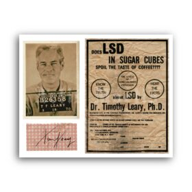 Printable Timothy Leary photo, lecture flyer, vintage memorabilia poster - vintage print poster