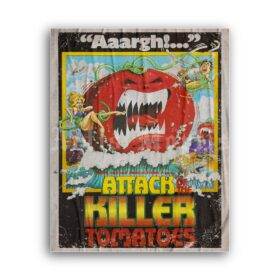 Printable Attack of the Killer Tomatoes - vintage 1978 horror comedy poster - vintage print poster