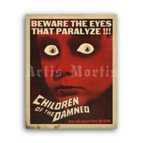 Printable Children Of The Damned - 1964 sci-fi horror movie poster - vintage print poster