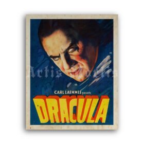 Printable Dracula - vintage 1931 classic vampire horror movie poster - vintage print poster