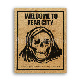 Printable Welcome to Fear City poster - New York 1975 historical print - vintage print poster