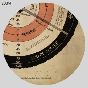 Printable Flat Stationary Earth vintage diagram alternative map poster - vintage print poster