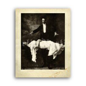 Printable Levitation photo - George Brindamour magic show print - vintage print poster
