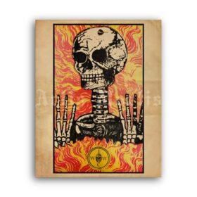 Printable International Werewolf Conspiracy - Black Mask, protest poster - vintage print poster