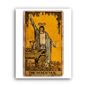 Printable The Magician – Tarot Card, Major Arcana, Greater Arcana poster - vintage print poster