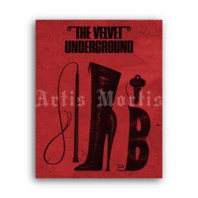 Printable Velvet Underground book - fetish accessories, high heels poster - vintage print poster