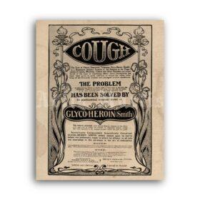 Printable Glyco-Heroin Smith - vintage pharmacy, apothecary poster - vintage print poster