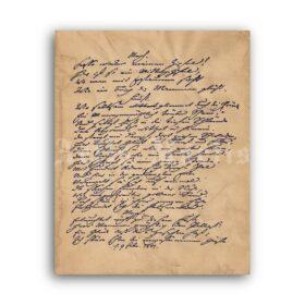 Printable Johann Wolfgang von Goethe - Faust handwritten manuscript - vintage print poster