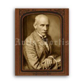 Printable Gustav Meyrink mystic writer antique cabinet card photo portrait - vintage print poster