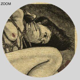Printable Enema, torture, bondage - Japanese BDSM art by Youji Muku - vintage print poster