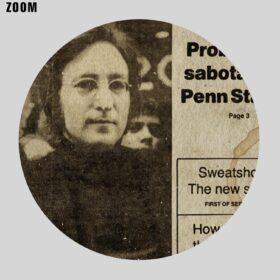 Printable John Lennon Slain - newspaper cover, The Beatles history poster - vintage print poster