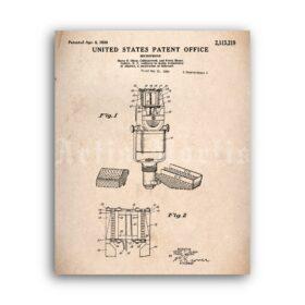 Printable RCA vintage ribbon microphone patent poster, studio decor - vintage print poster