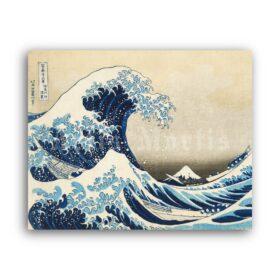 Printable Under the Wave off Kanagawa print by Katsushika Hokusai - vintage print poster