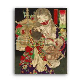 Printable Chao Gai of Water Margin - vintage Ukiyo-e woodblock print - vintage print poster