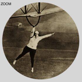 Printable Lillian Boyer aerobatic stunts - wing walker girl 1920s photo - vintage print poster