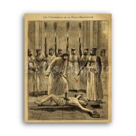 Printable Freemasonry ritual - blasphemy, mysteries, initiation, masonic art - vintage print poster