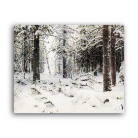 Printable Winter - landscape painting by Ivan Shishkin - vintage print poster