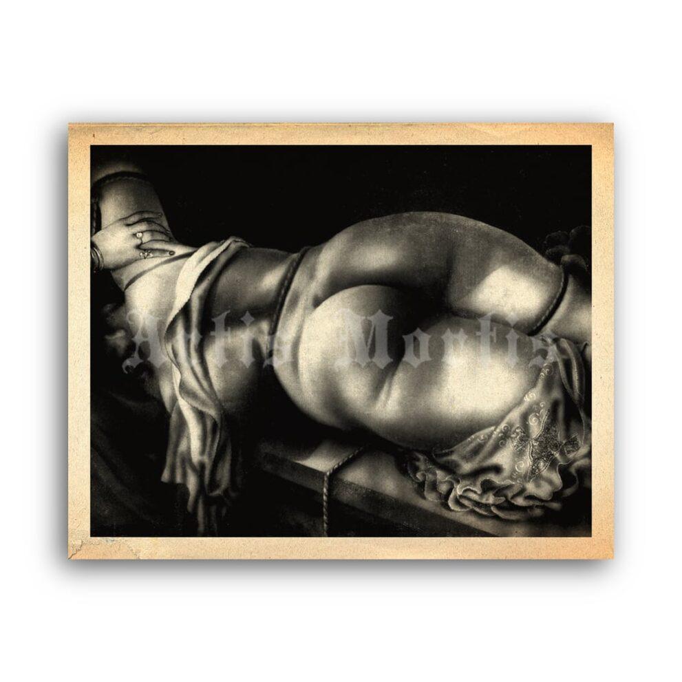 Printable Naked girl in the dark - vintage 1930s fetish art by Wighead - vintage print poster