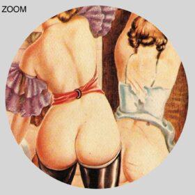 Printable Adult party, BDSM orgy - vintage 1930s fetish art by Wighead - vintage print poster