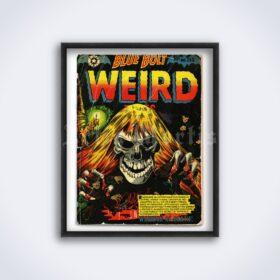 Printable Blue Bolt Weird - vintage horror pulp magazine cover poster - vintage print poster