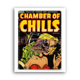 Printable Chamber of Chills - vintage 1953 horror tales cover art print - vintage print poster
