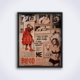 Printable Color Me Blood Red – vintage 1965 horror movie poster - vintage print poster