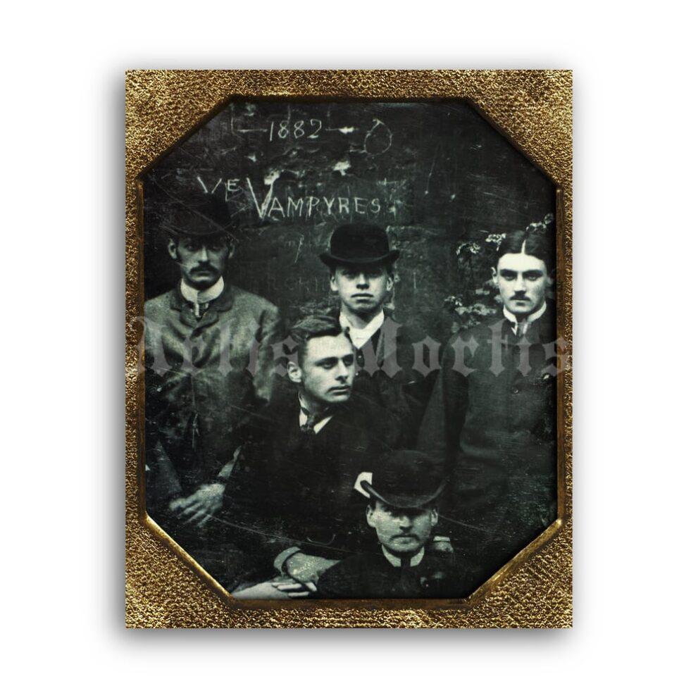 Printable Victorian Vampires - Vampyres 1882 vintage Halloween photo - vintage print poster